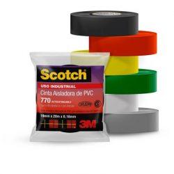 Scotch 770 Negra (19mm x 20m) – Uso Industrial