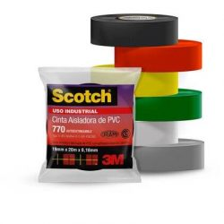 Scotch 770 Rojo (19mm x 10m) – Uso Industrial