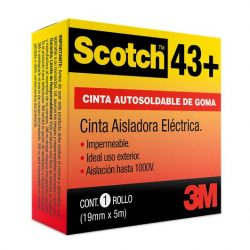 Scotch 43 Cinta Autosoldable Baja Tensión (19mm x 5m)