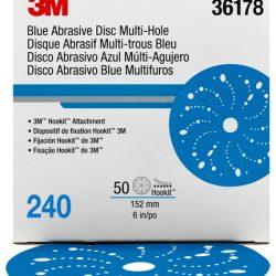 Disco Blue Hookit 6″ PN 36178 Grano 240