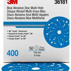 Disco Blue Hookit 6″ PN36181 Grano 400