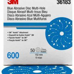 Disco Blue Hookit 6″ PN36183 Grano 600
